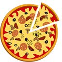 Pizza sliced spinner icon