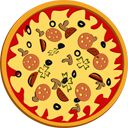 Pizza spinning loading spinner