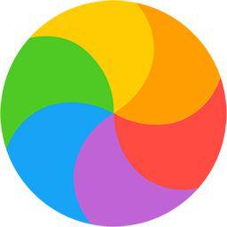 Rainbow waiting GIF