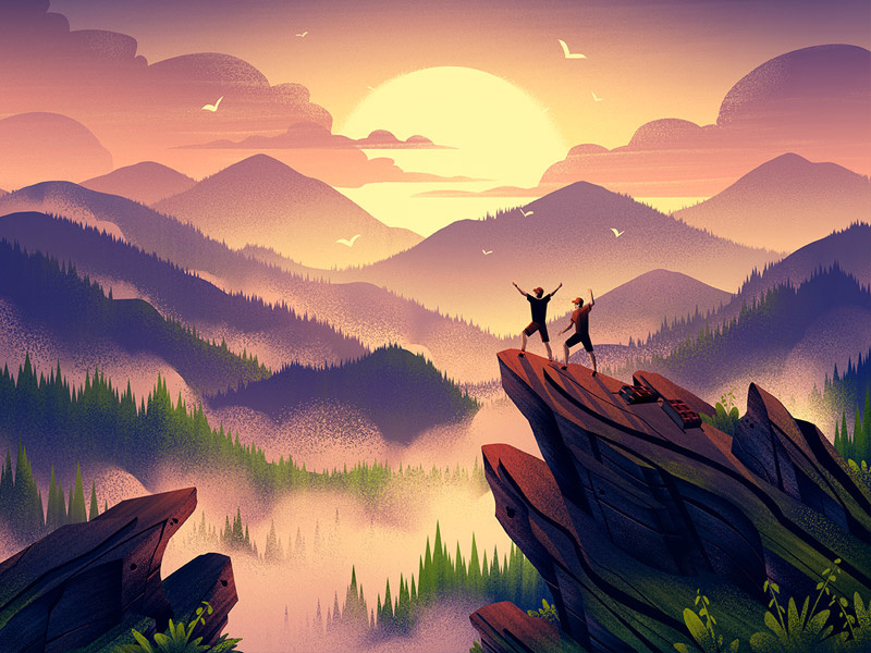 Digital Art 25 Atmospheric Illustrations Of Nature And Landscapes