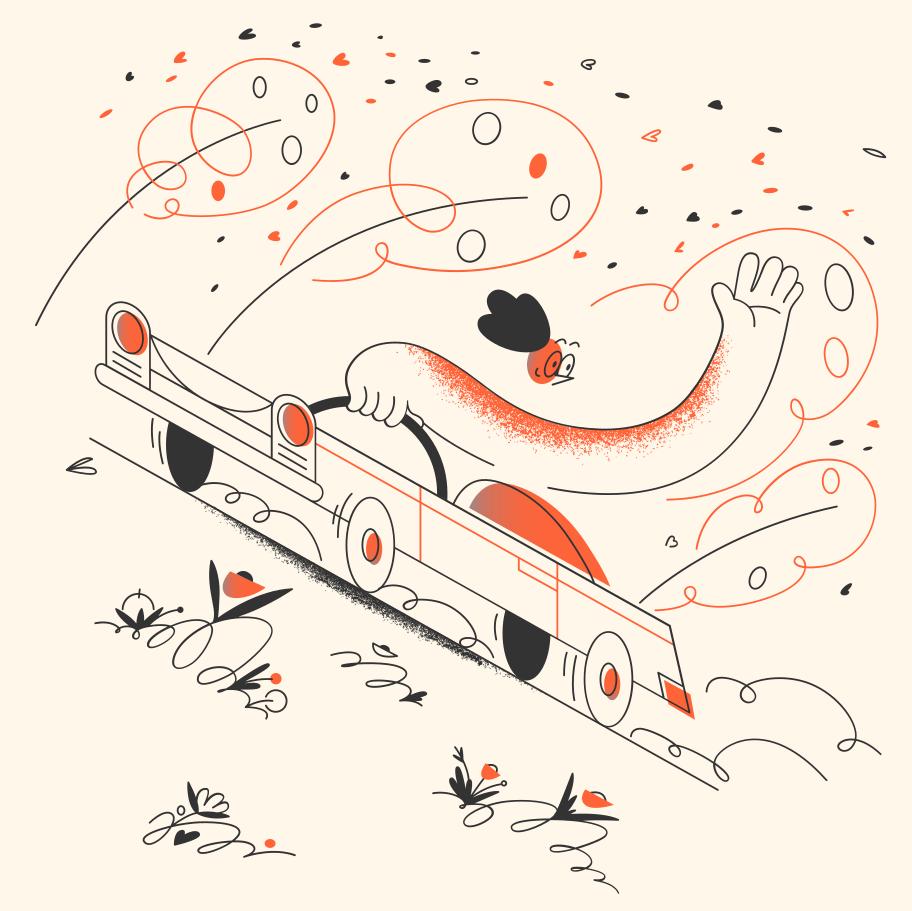 crayon vector illustrations