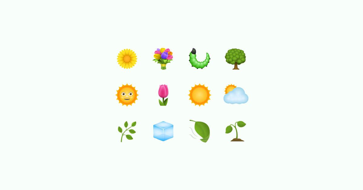 spring clipart icons