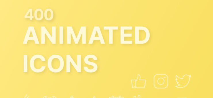UI Tools: 400 Free Animated Icons in All Formats