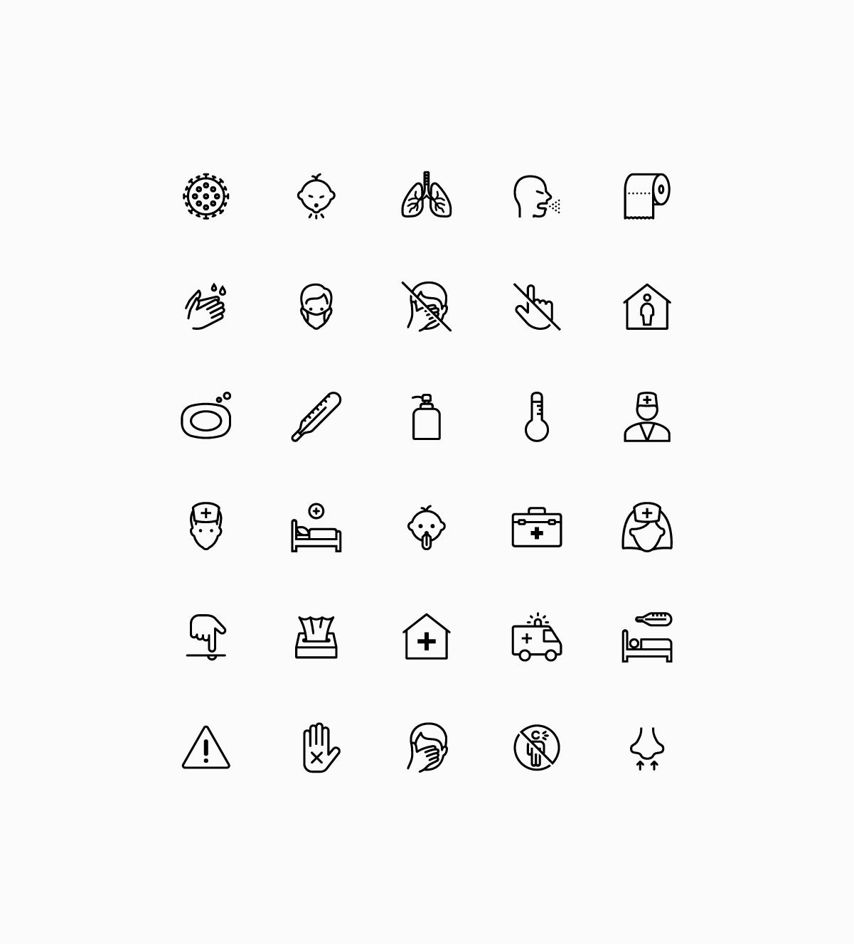 iOS coronavirus icons