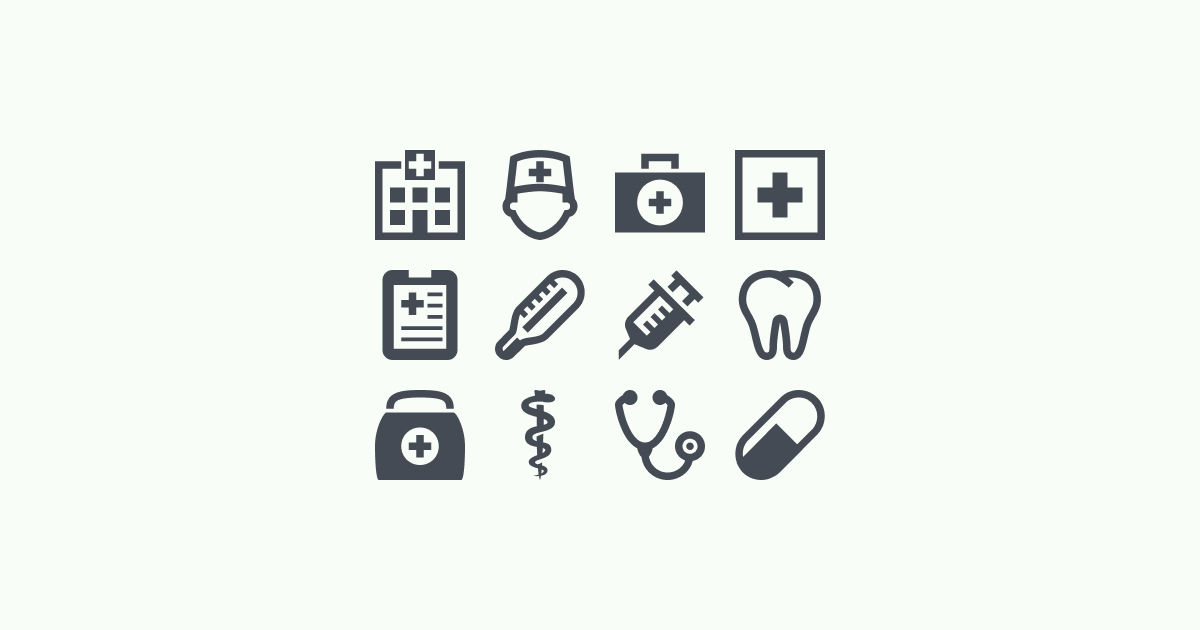 medical clipart icons