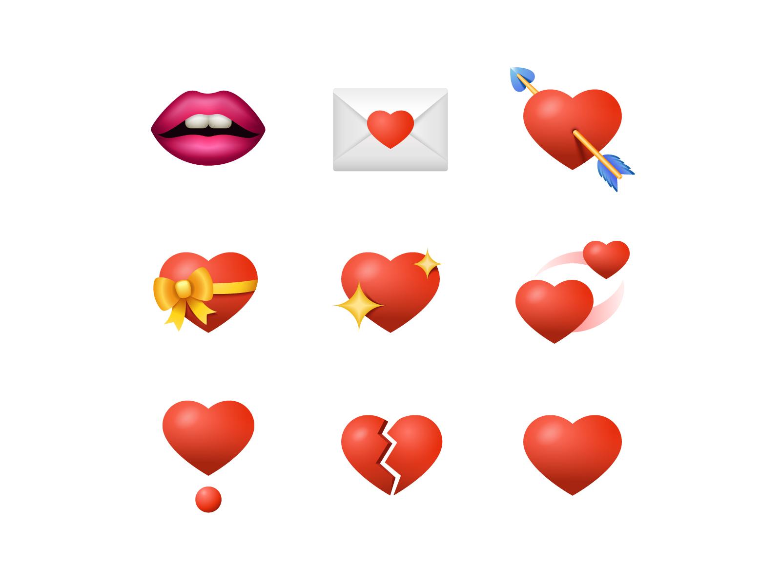 emoji hearts