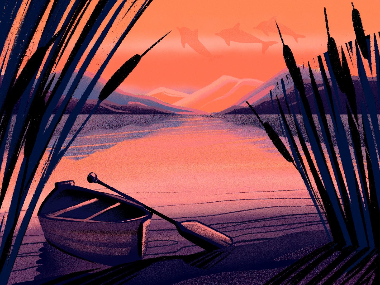 limited color illustration