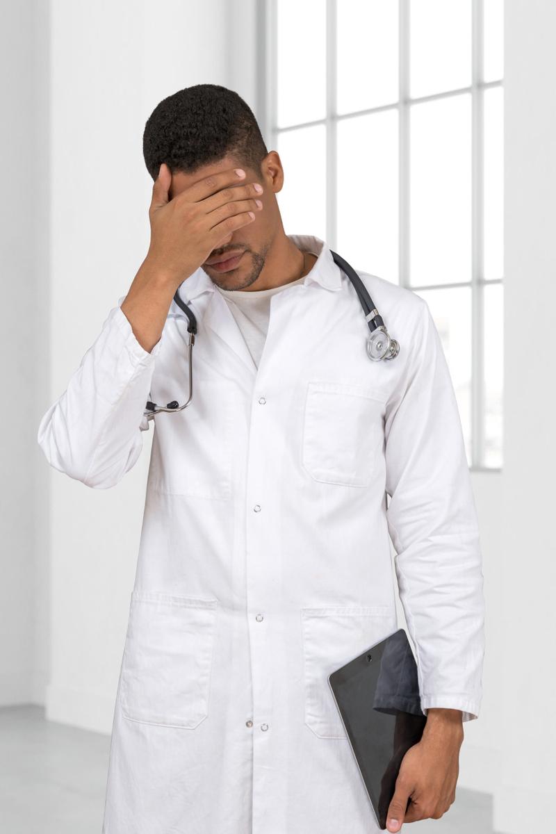 tired doctor photostock