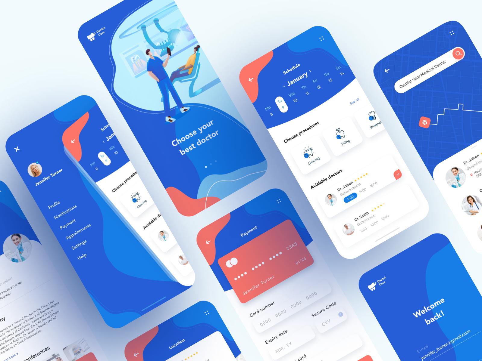 dental care app design
