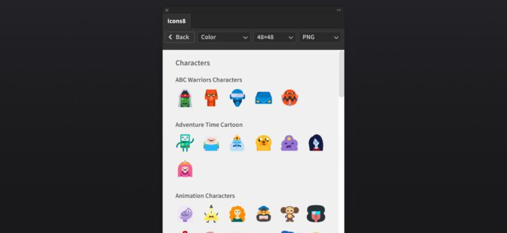 Icons8 for Adobe: Free Plugin with 125K Icons for Photoshop and Illustrator