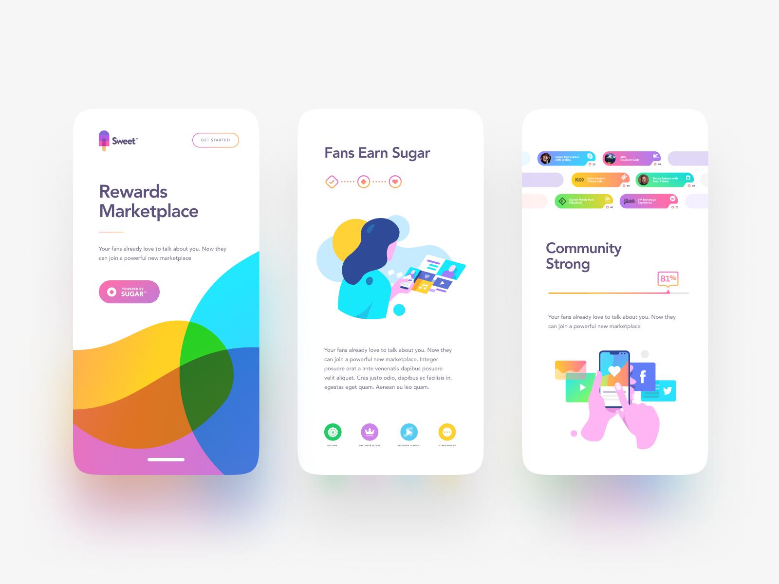 mobile app design concept
