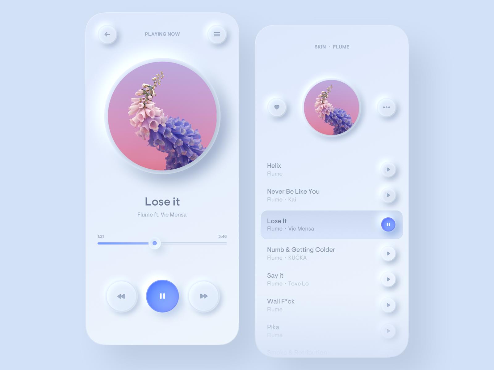 neuomorphic app design