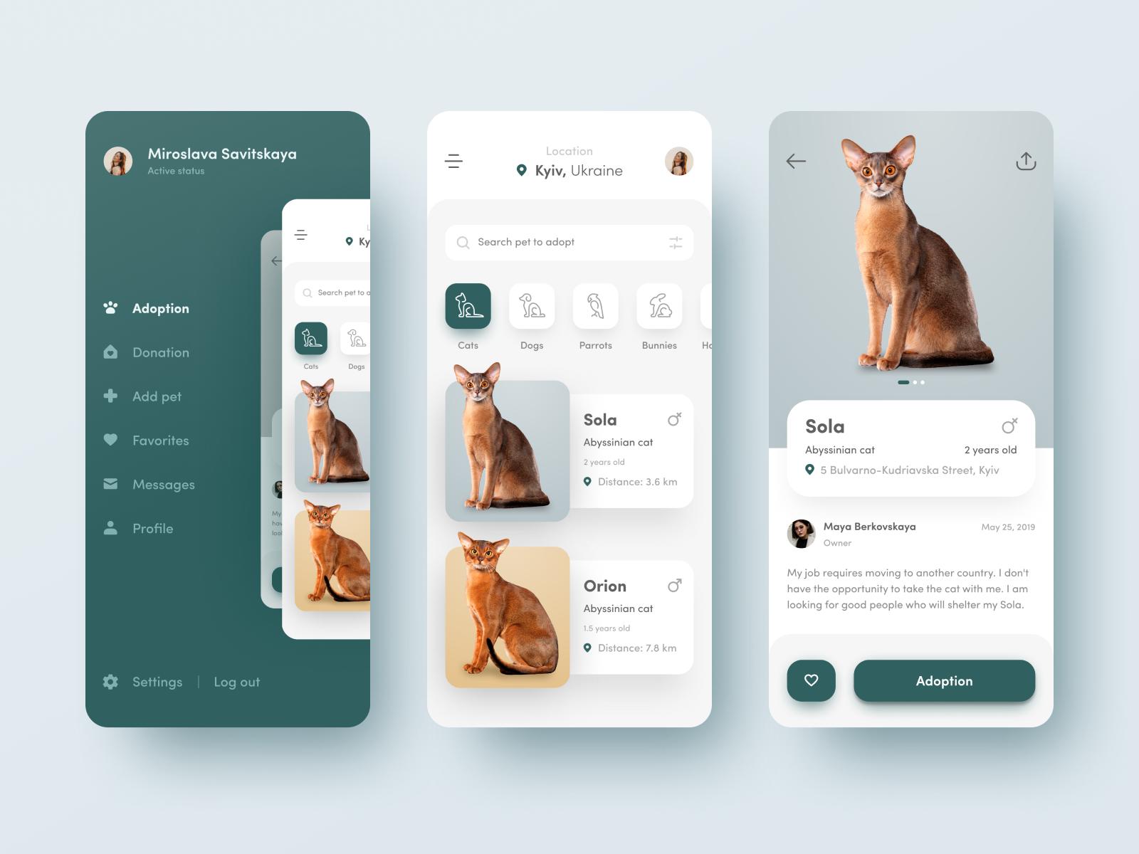 pet adoption app design