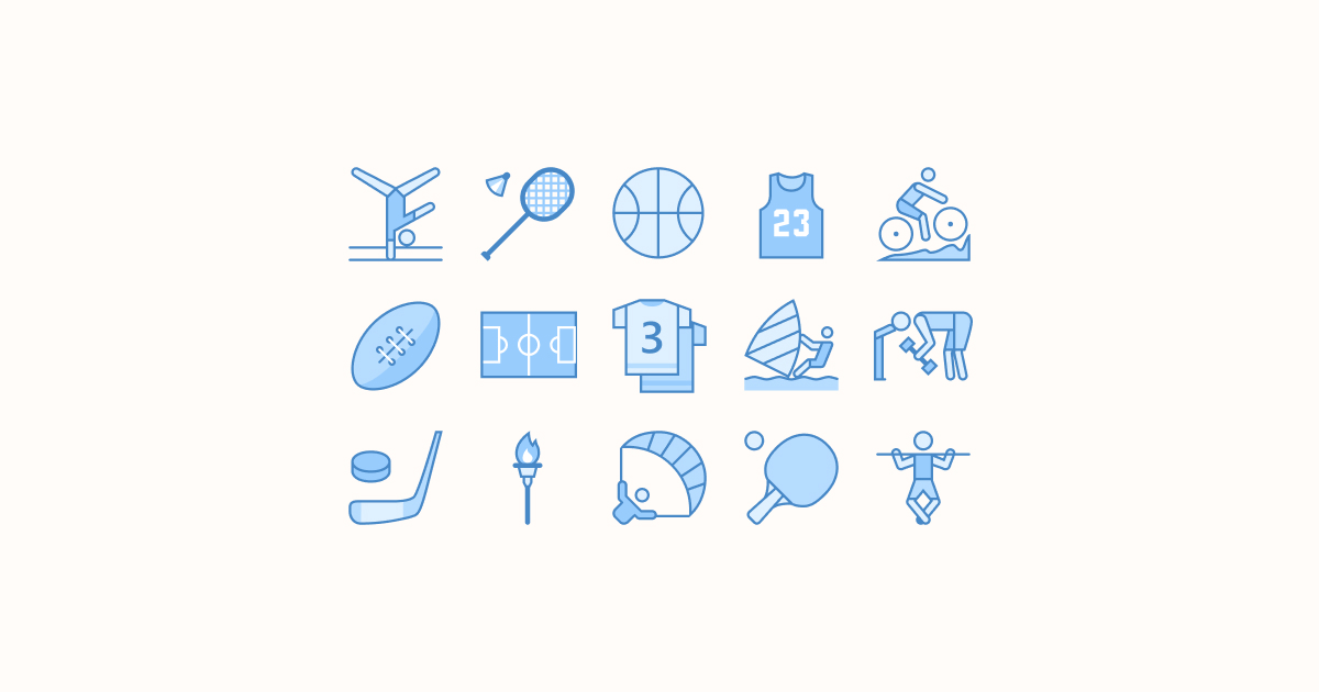 sports clipart icons blue-ui