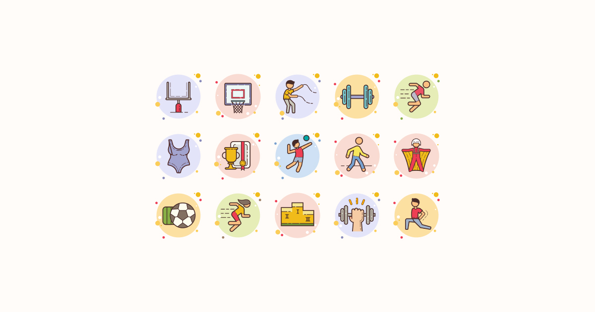 sports clipart icons circle-bubbles