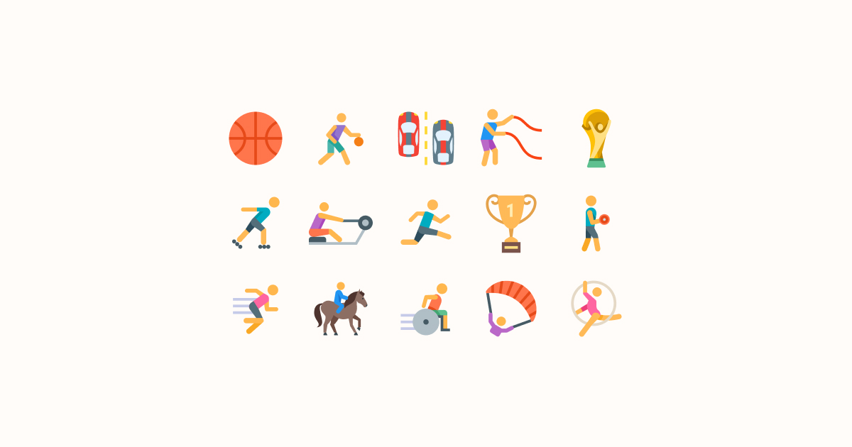 sports clipart icons color