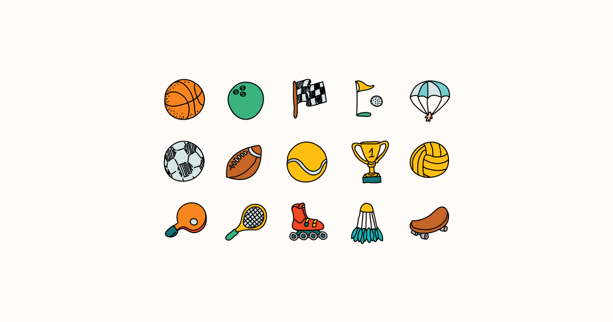 sports clipart icons doodle