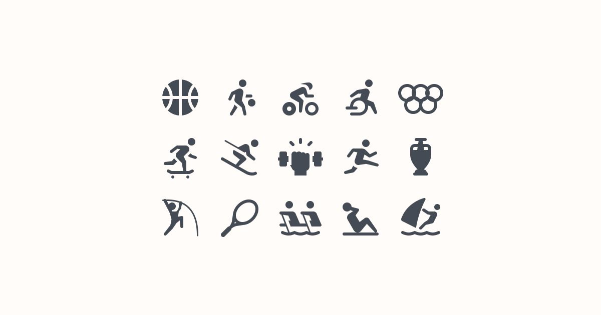 sports clipart icons ios-glyph