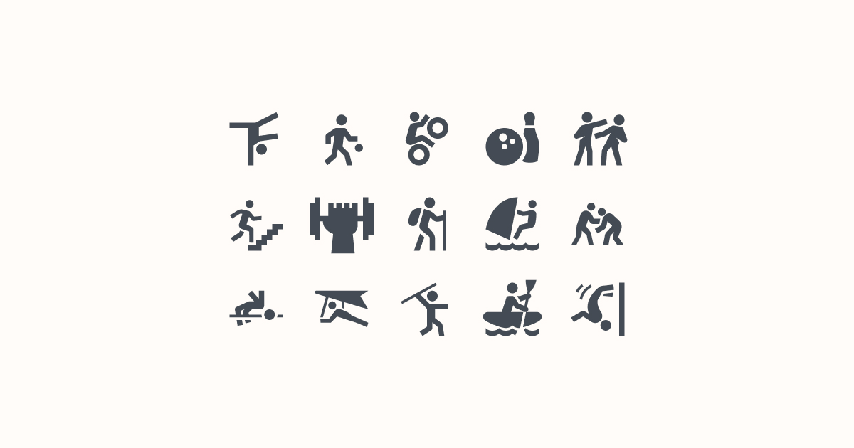 sports clipart icons material-filled