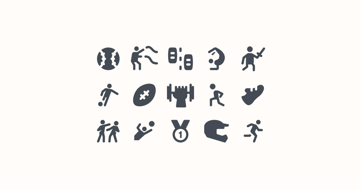 sports clipart icons material-rounded