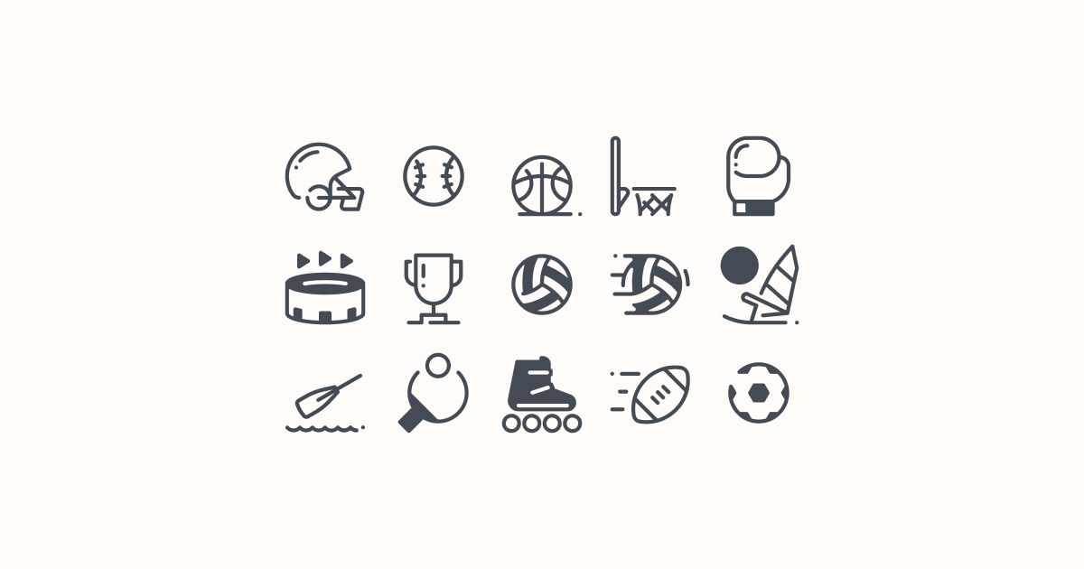 sports clipart icons pastel-glyph