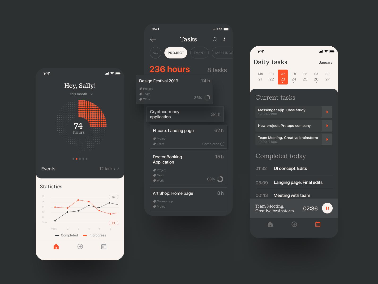 task tracker app design