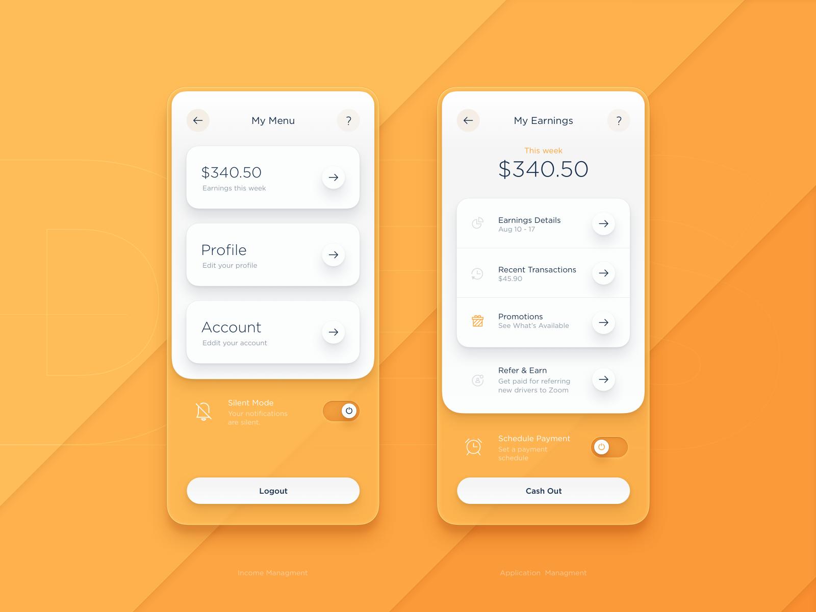 taxi driver app design