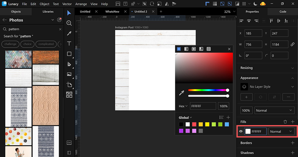 lunacy design tutorial instagram images