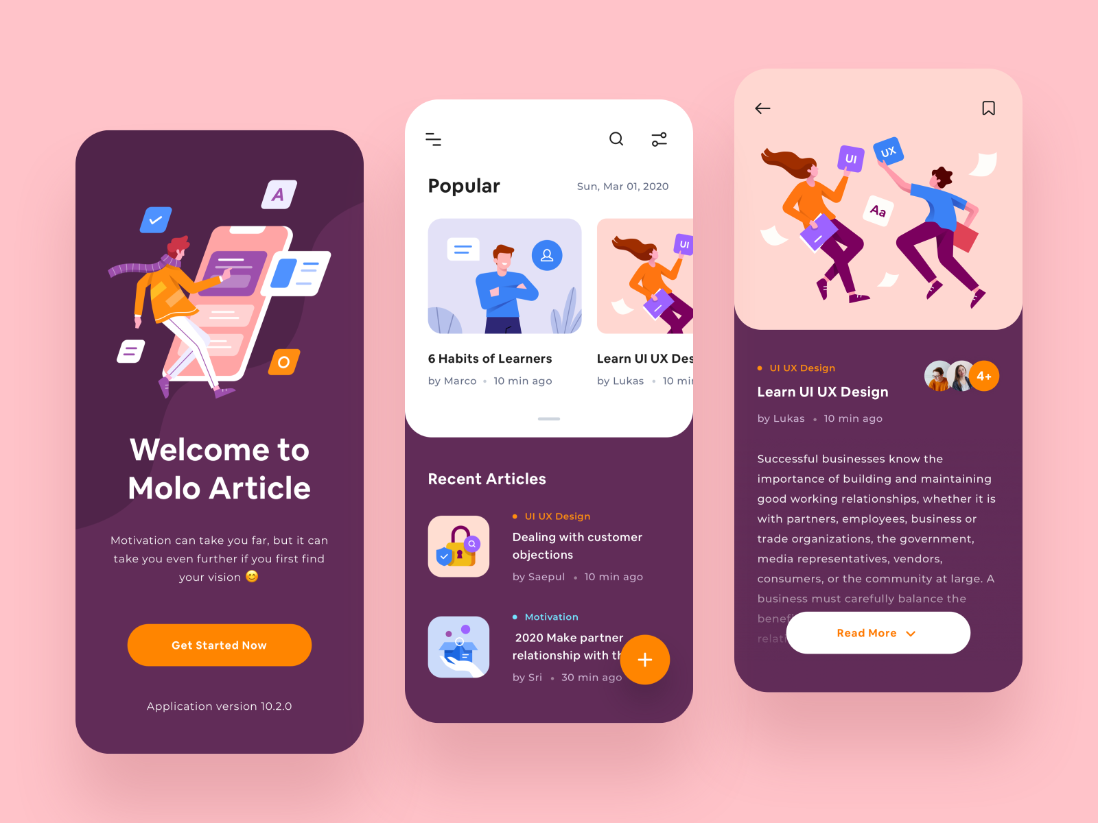 article app mobile concept