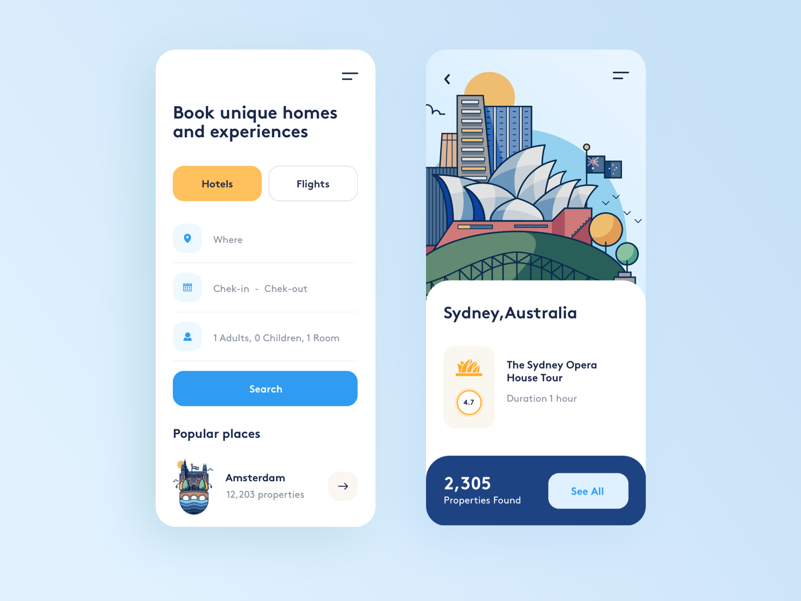 booking app design