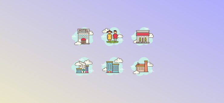 Urban Spirit: City Clipart and Icons in 19 Design Styles
