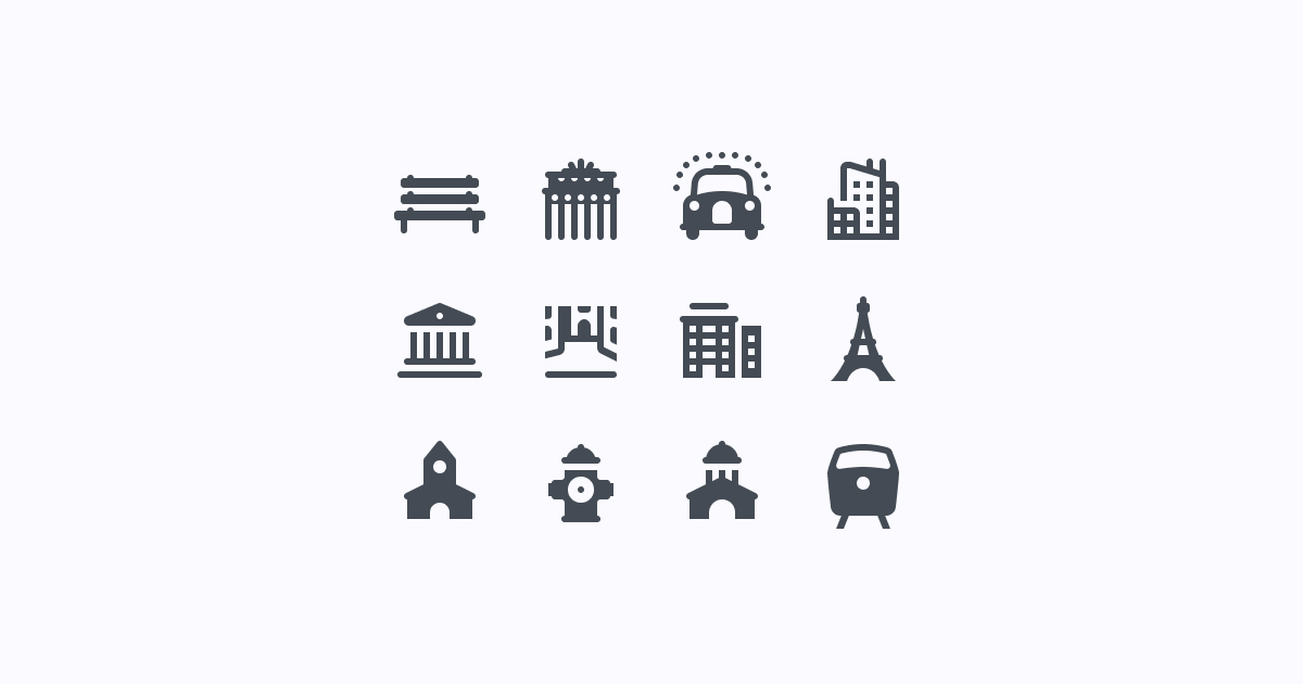 city clipart icons ios-glyph