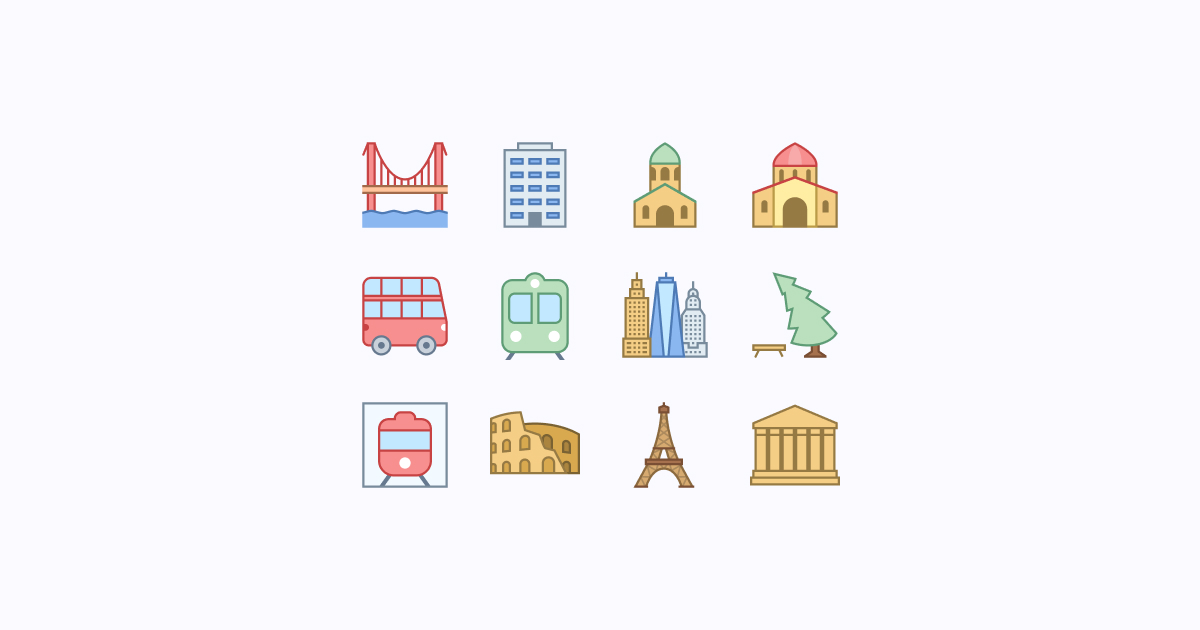 city clipart icons office