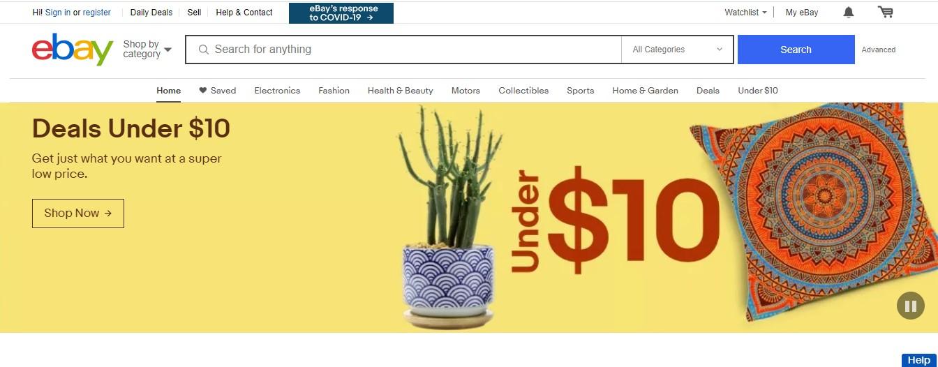 ebay ui design examples