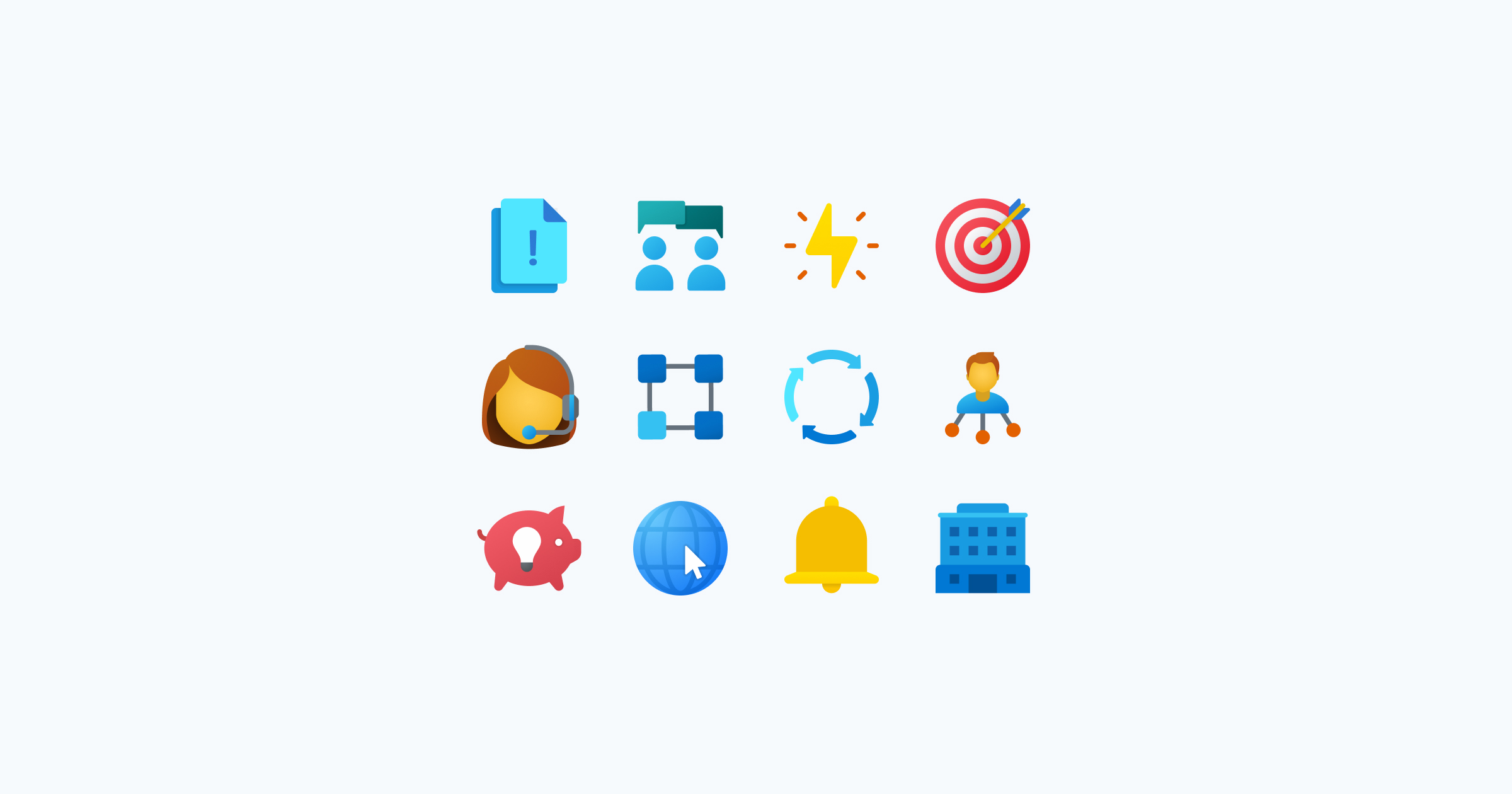 fluent icons business