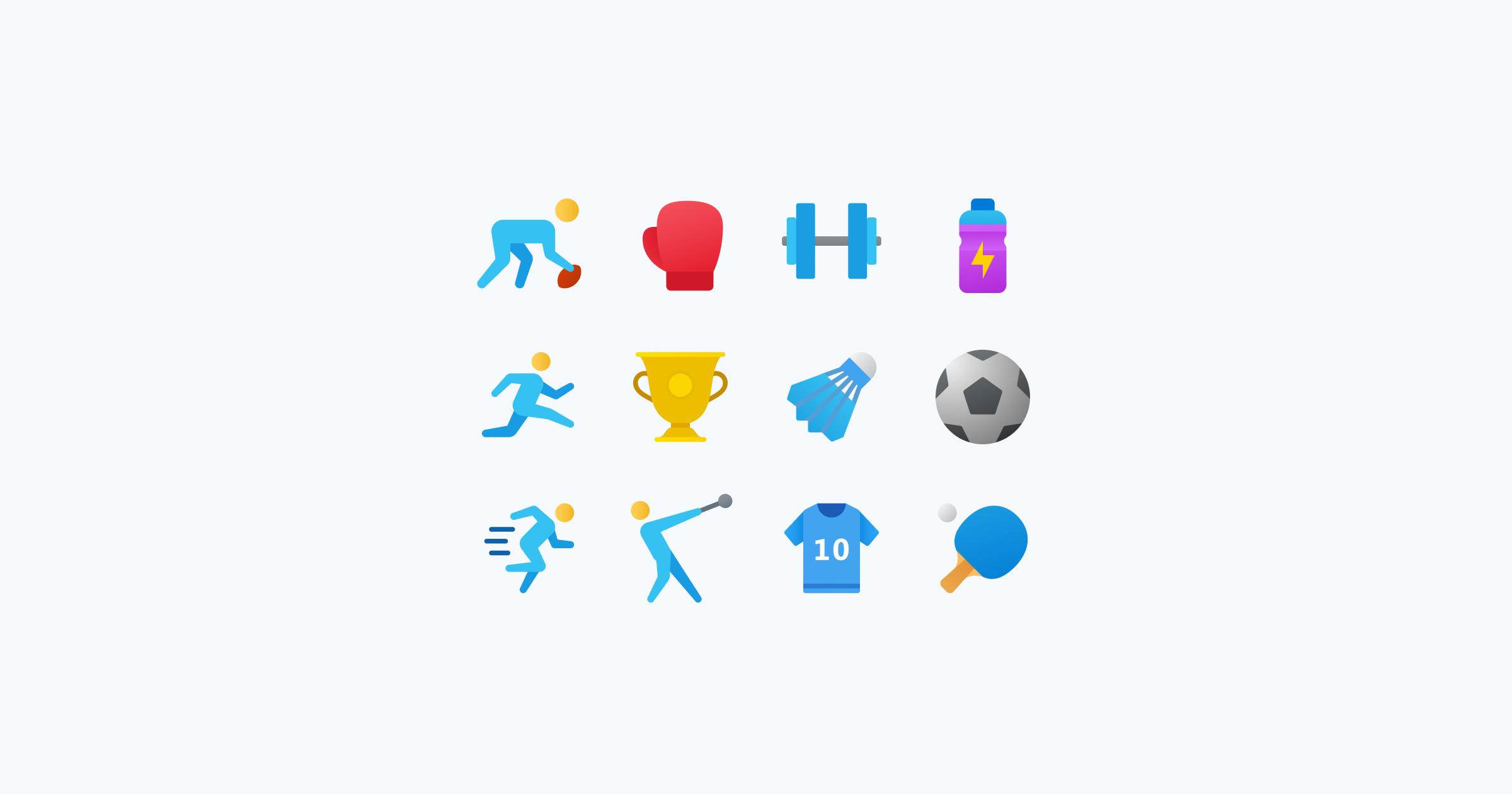 fluent icons sports
