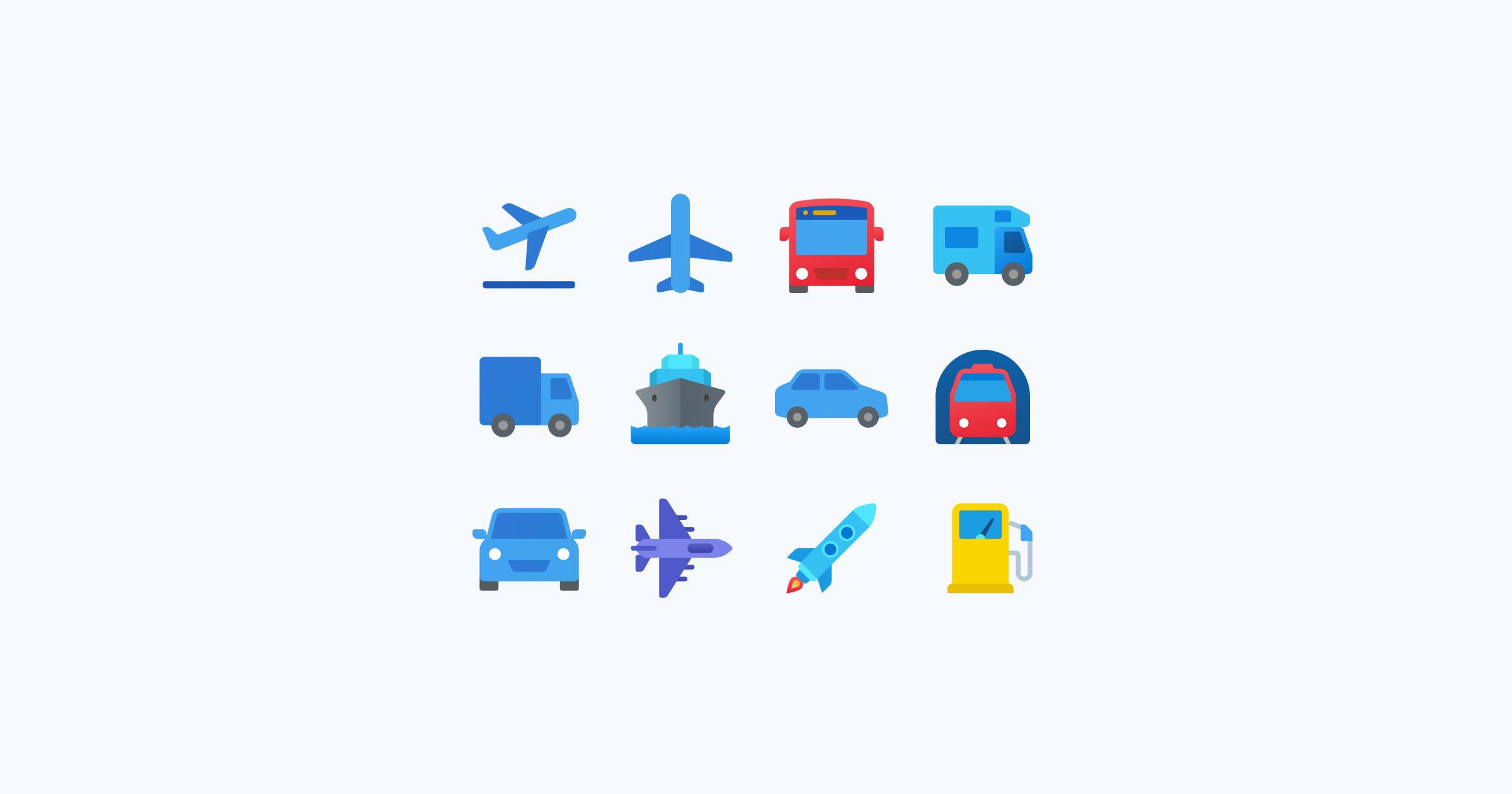 fluent icons transport