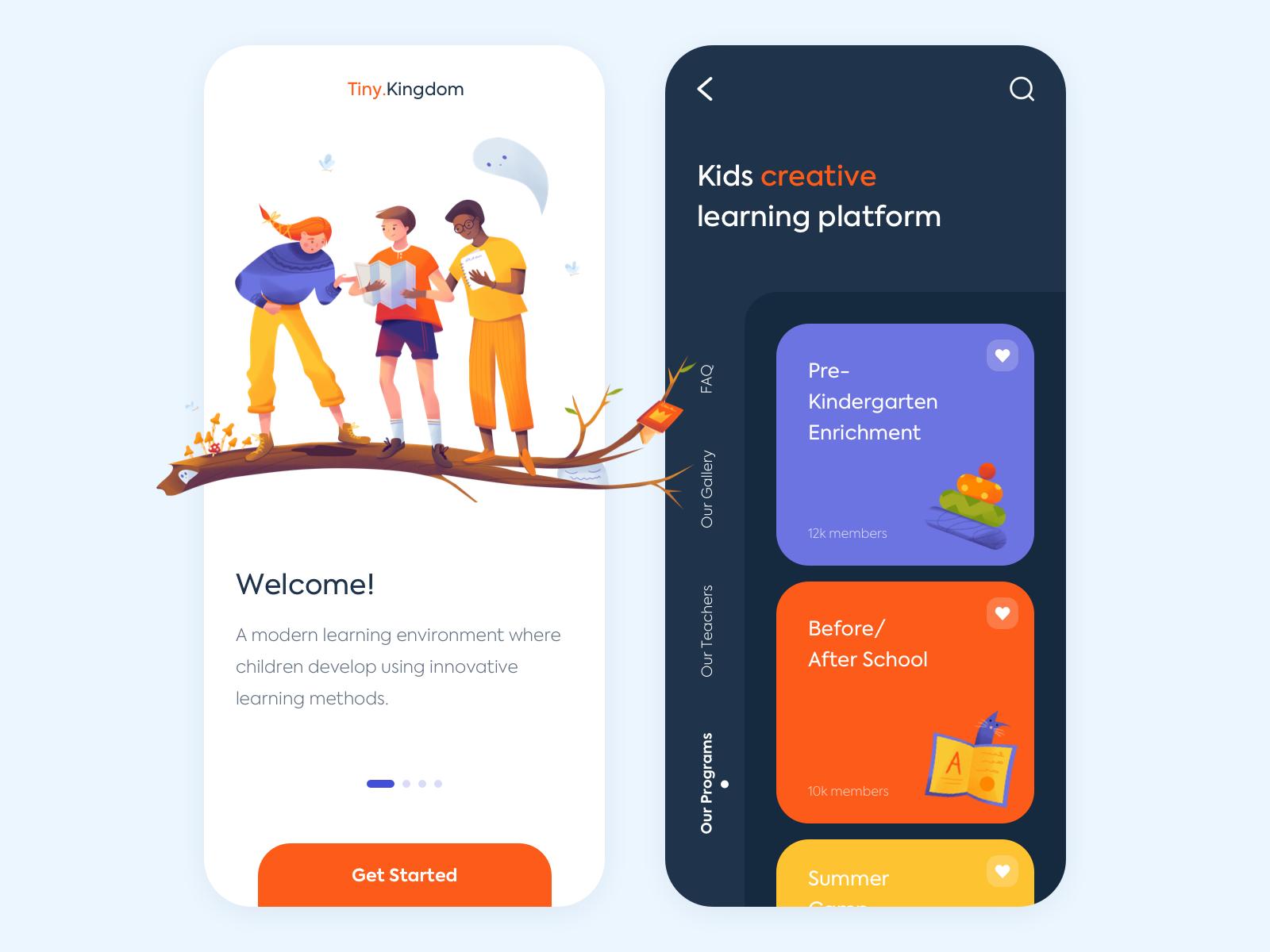 kids app design