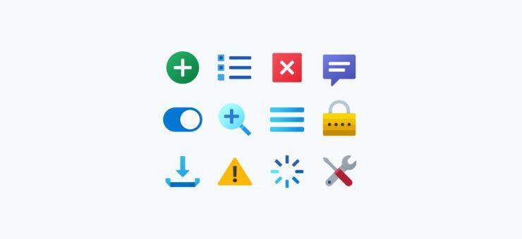 Fluent Icons: 10 Packs of Bright Graphics on Popular Topics