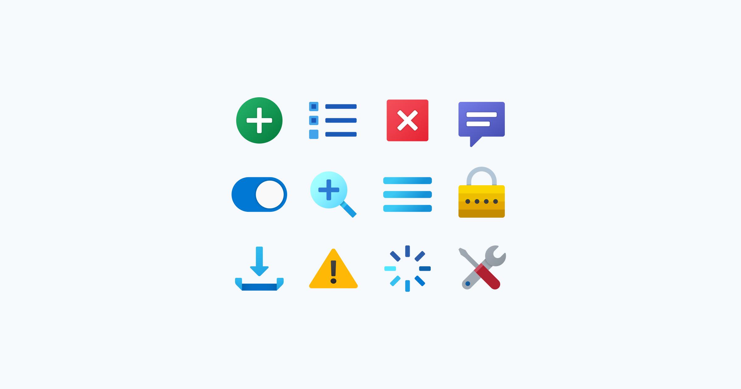 ui fluent icons