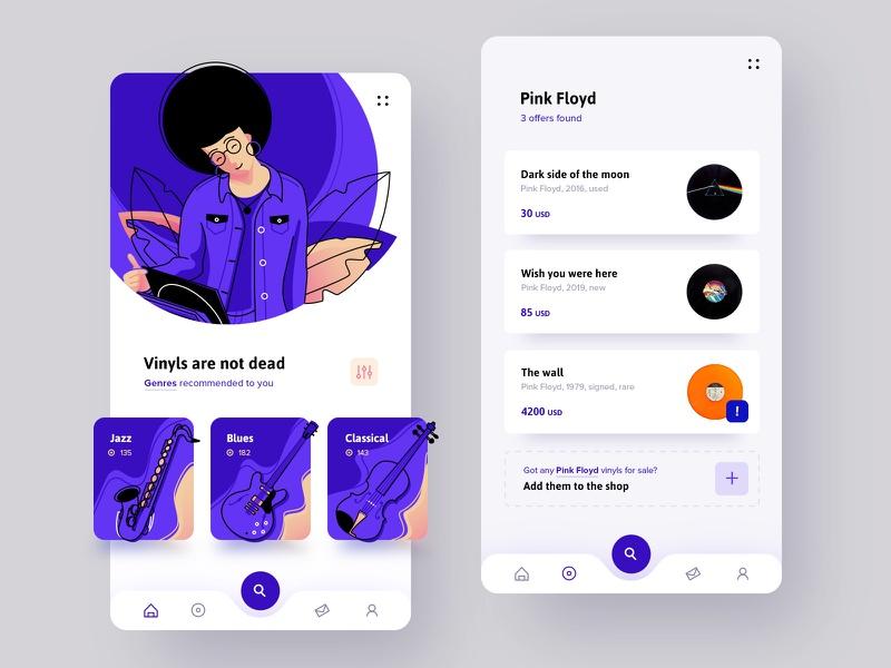 vinyls app design