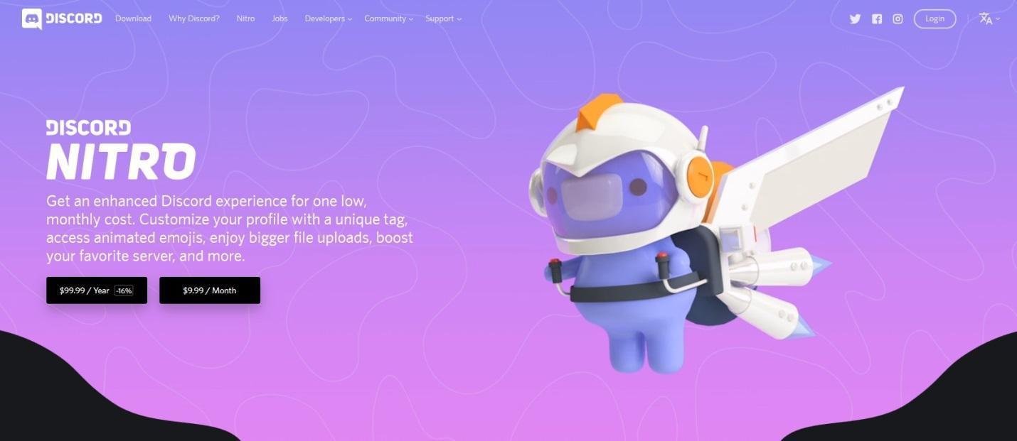 web design examples discord