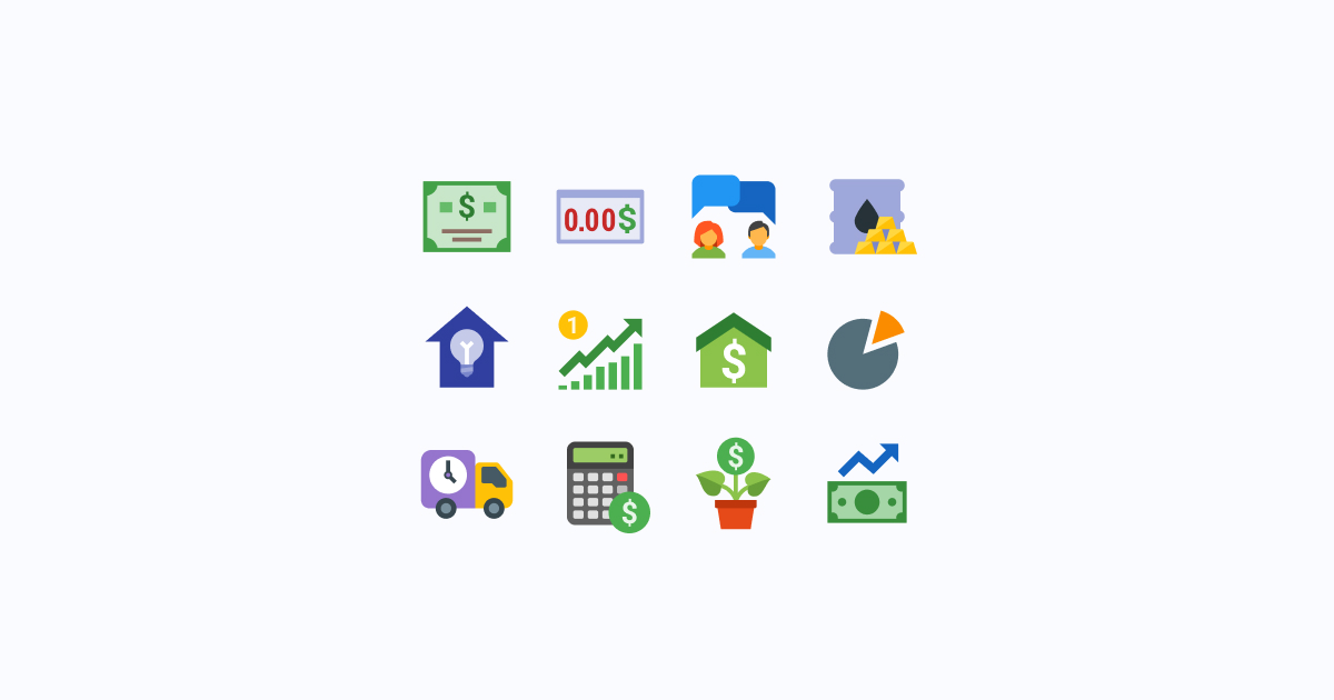 business clipart icons color