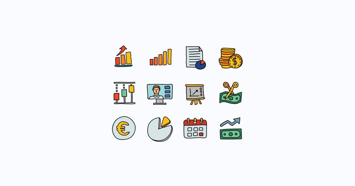 business clipart icons doodle