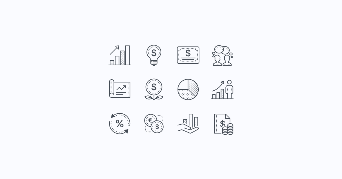 business clipart icons dotted