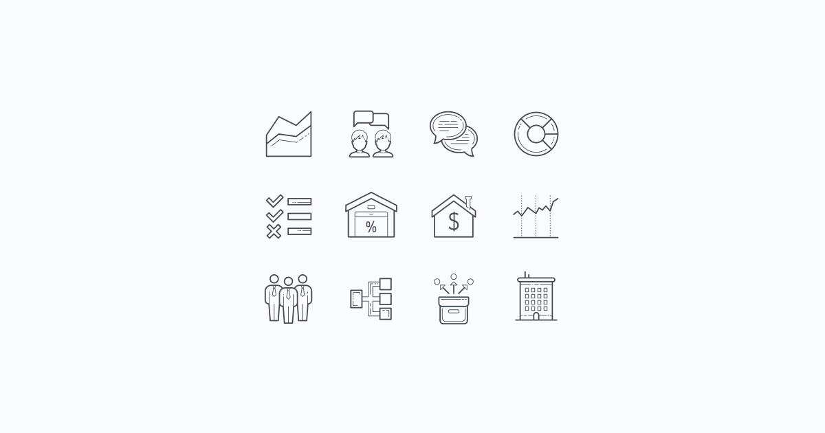 business clipart icons hand-drawn
