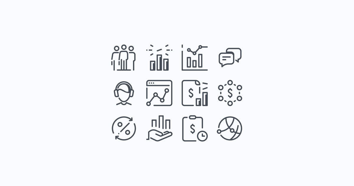 business clipart icons pastel-glyph
