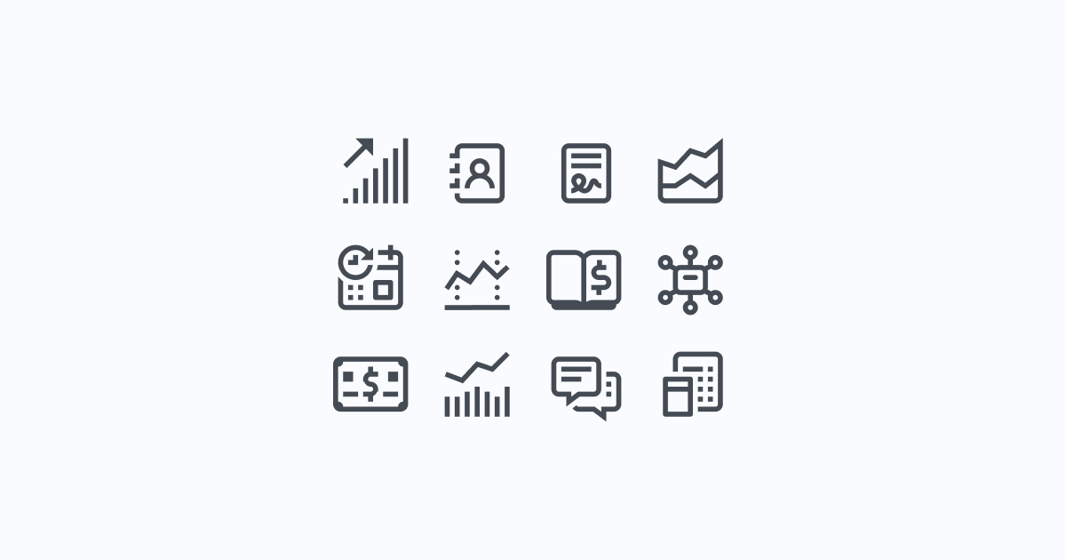 business clipart icons simple-small