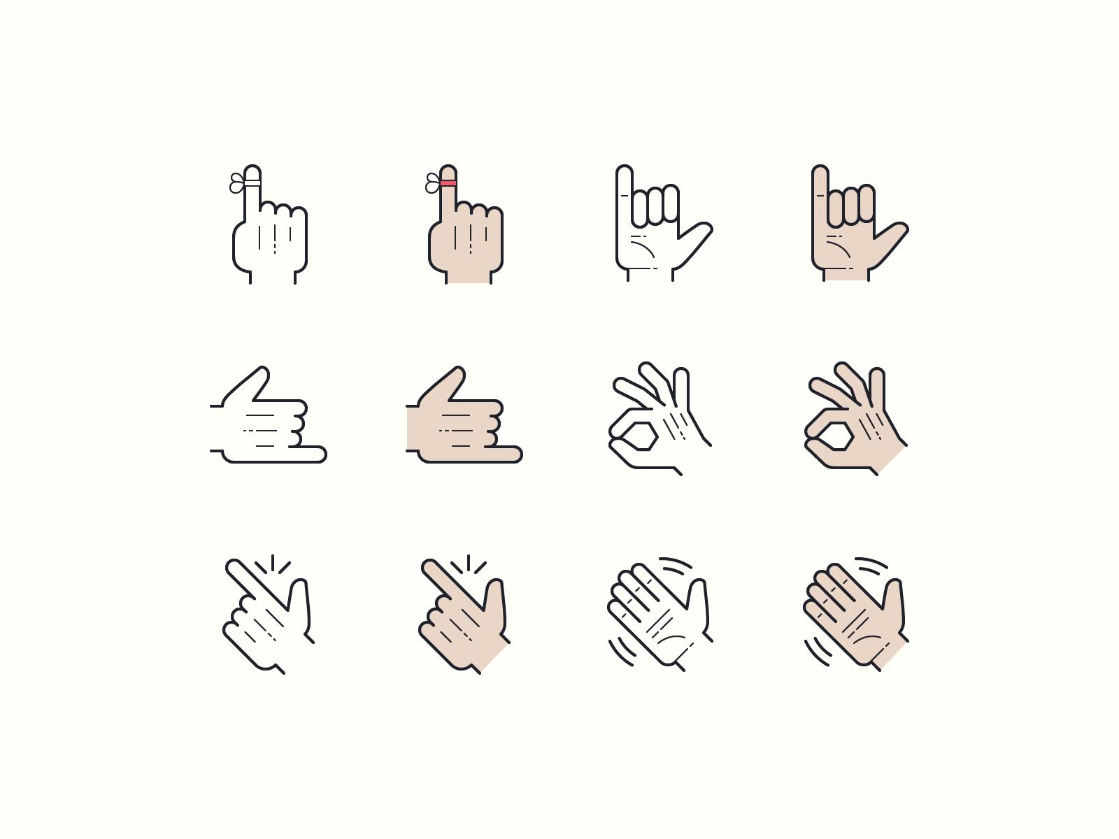 gestures hands icons