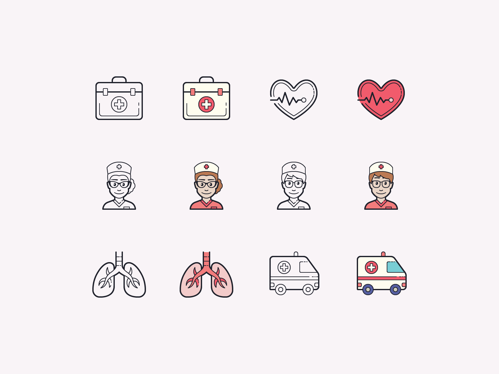 healthcare icons clipart